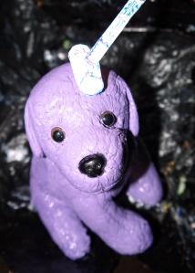 garm puppy with hammer
