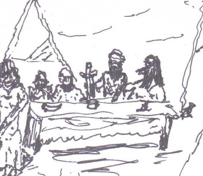 men at feast 01