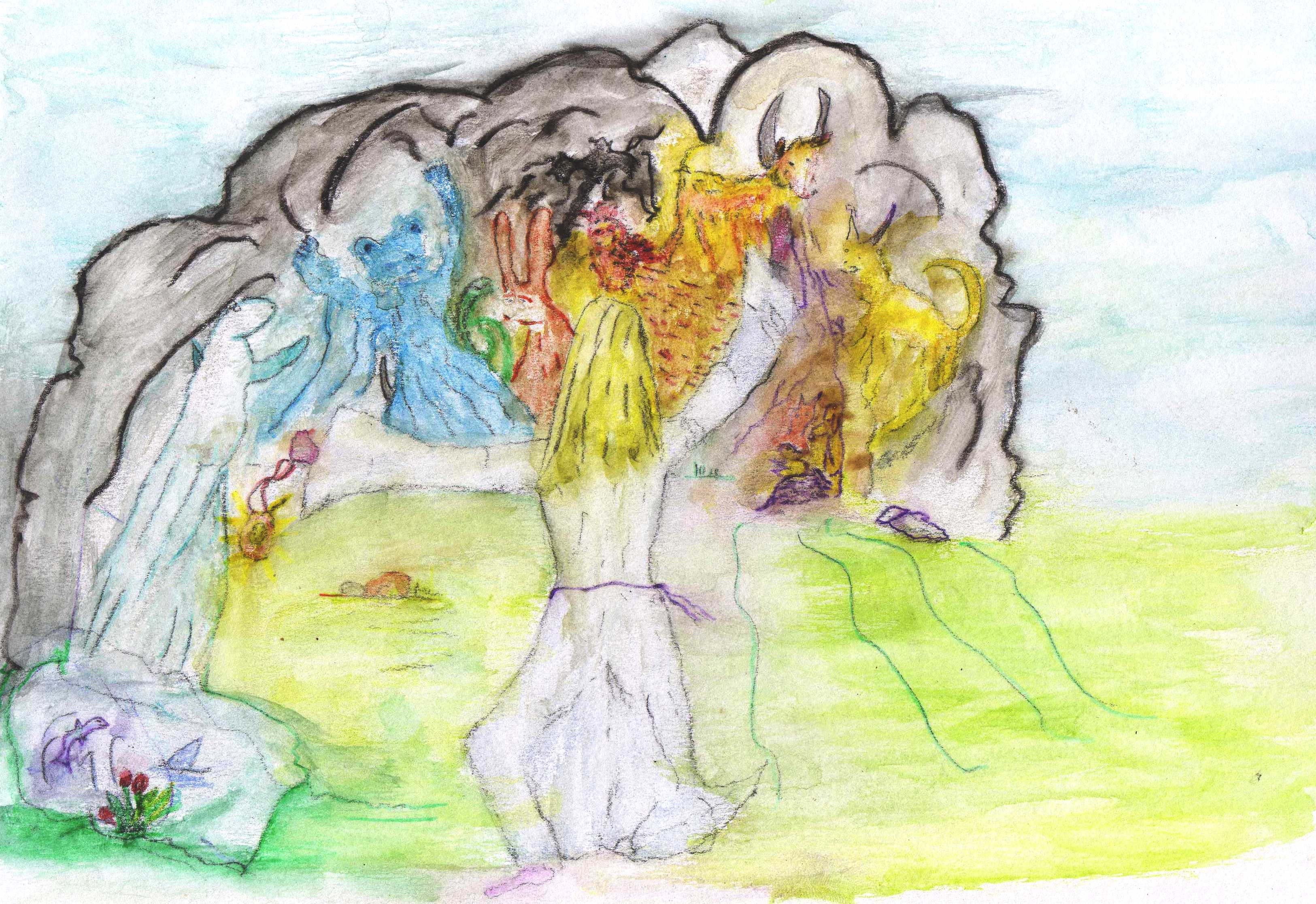 creature spirits alarmed 02 coloured