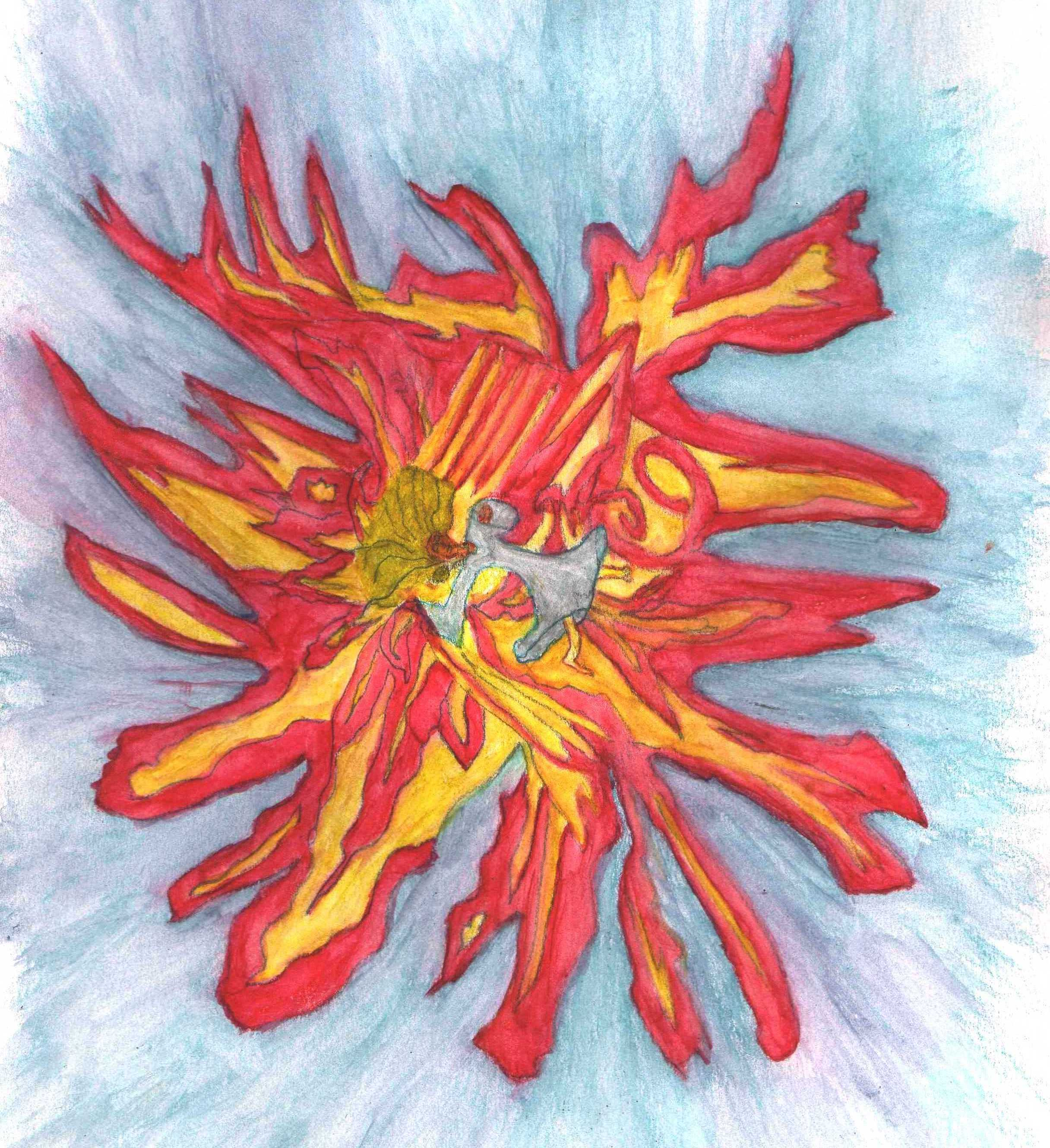 falling flames 02 painted squared left 09