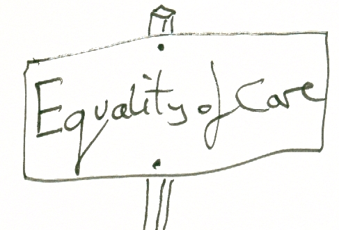 equality of care sign