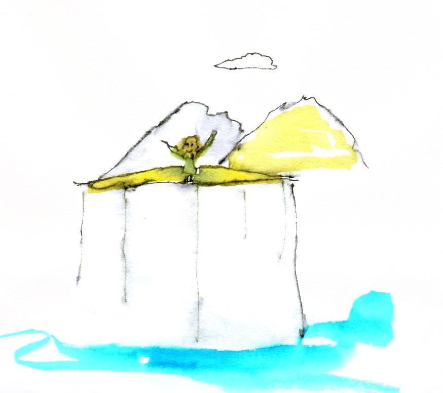 world poem lady cliff top