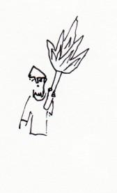 man torch