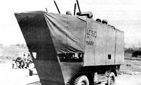 mock up troop carrier landing craft